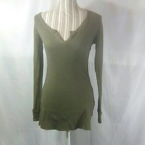 Joie Olive Long Sleeve Thermal Sz Large